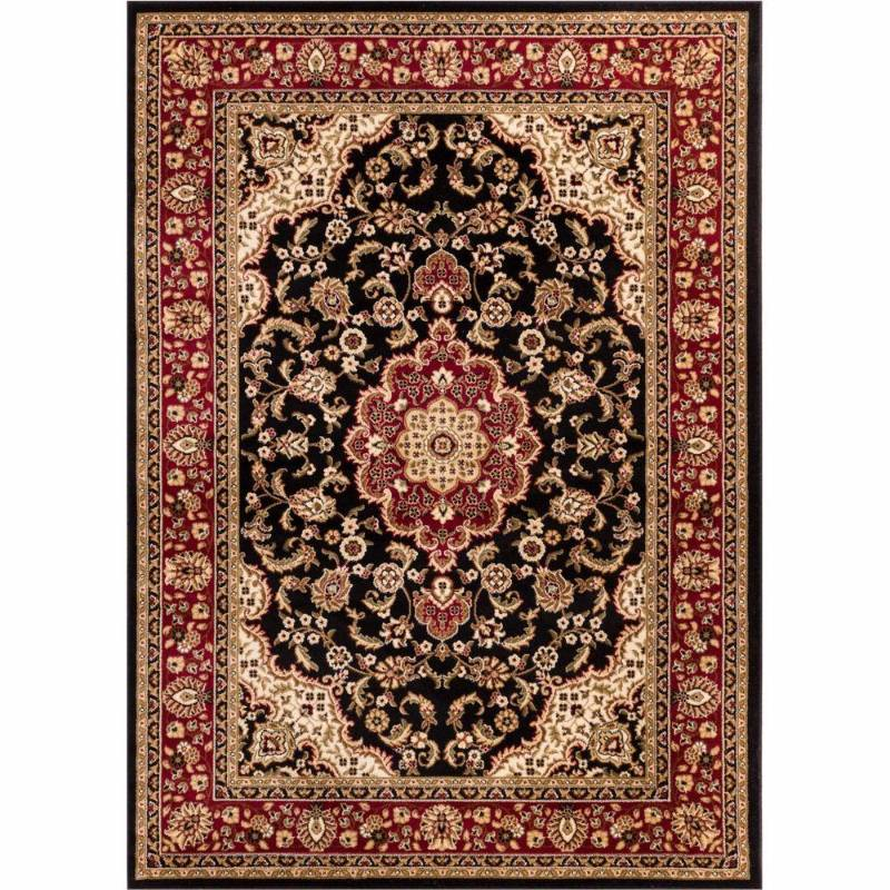 Well Woven Barclay Medallion Kashan Black 7 Ft 10 In X 9