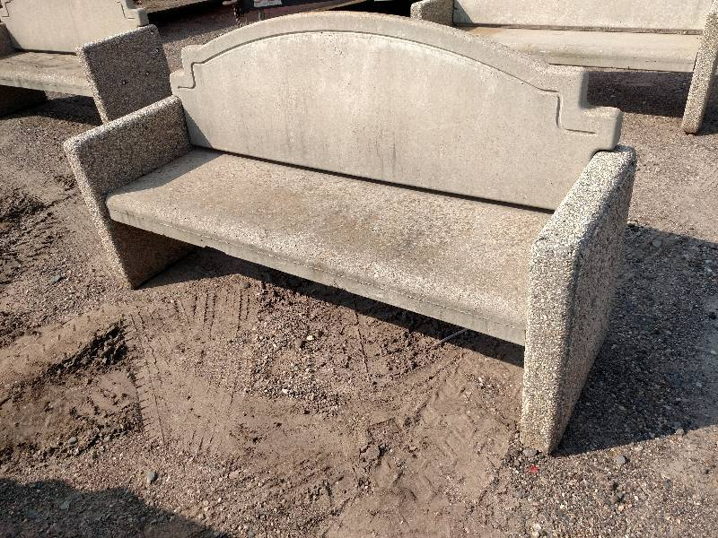 Cast Concrete Bench 7 39 Arteka Landscaping Surplus K Bid