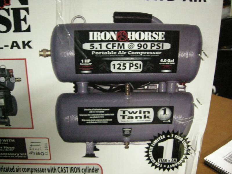Iron Horse Portable Air Compressor Kit Tradeshow