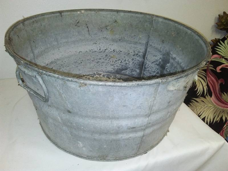 Vintage Galvanized Wash Tub | Welcome Fall - New, Used, Vintage ...