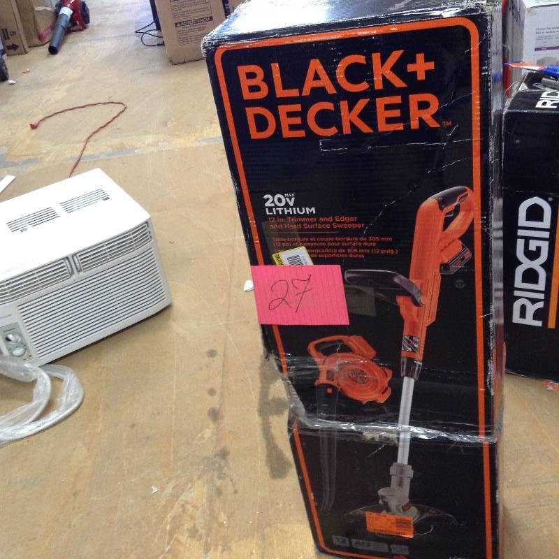 Black and Decker 20V 12 in Trimmer and Edger and hard surface sweeper