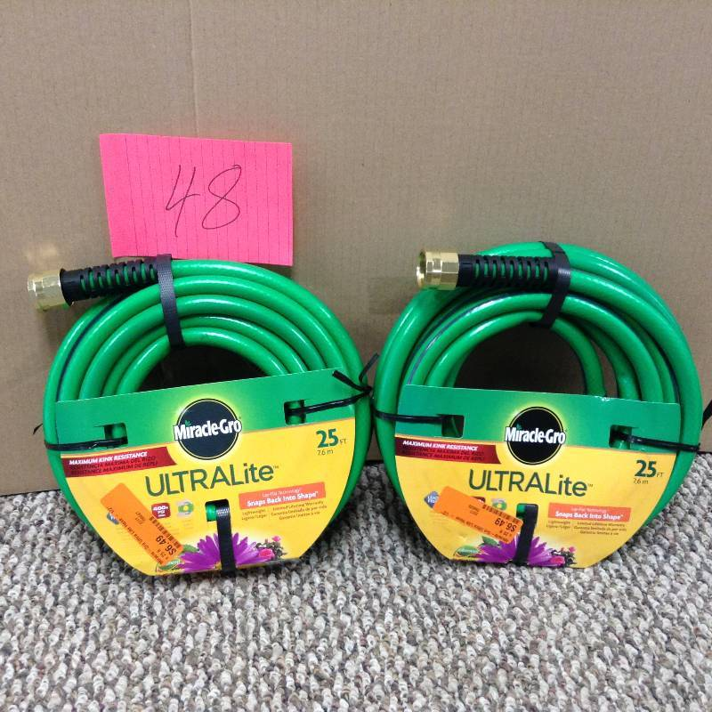 Lot of 2 Miracle gro Ultra Lite 25 ft water hose new