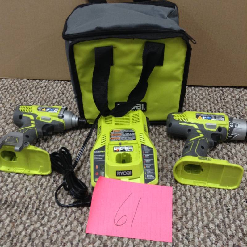 Ryobi P1832 18-Volt One+ Drill/Driver and Impact Driver Battery not included