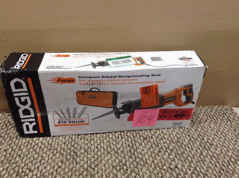 Ridgid Fuego 10 Amp Orbital Reciprocating Saw used in working condition