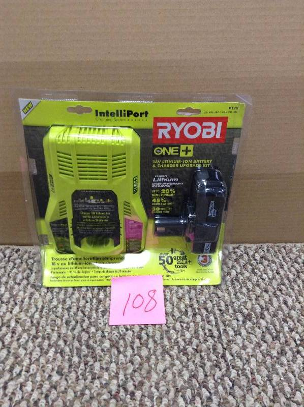 Ryobi ONE+ 18-Volt Lithium-Ion Battery and IntelliPort Charger Upgrade Kit