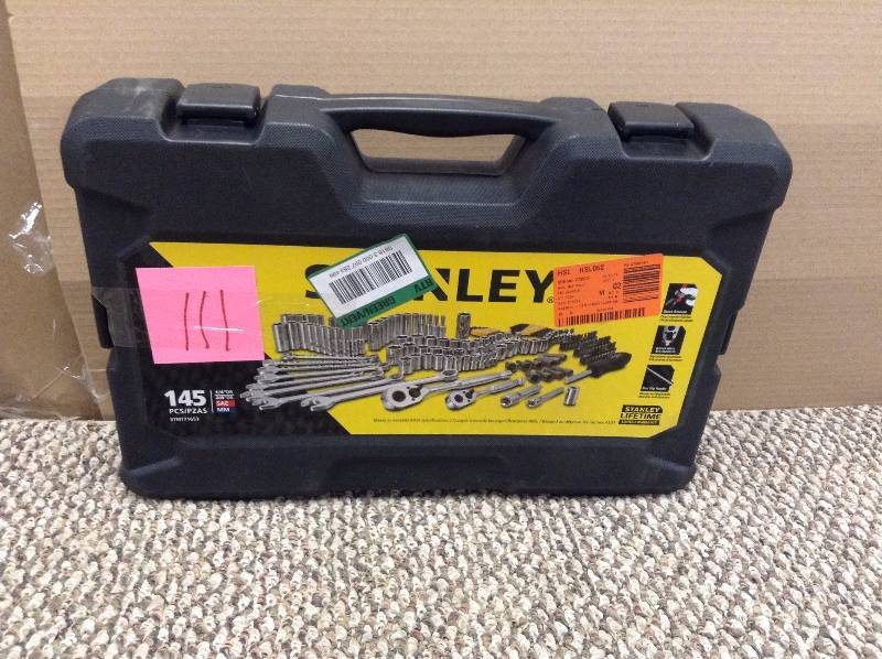 Stanley Tools - 145 pc 14 in 38 in Drive Mechanics Tool Set - STMT71653 not used