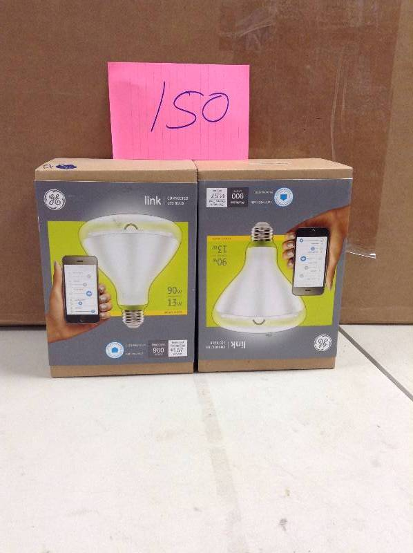 Lot of 2 GE Link connected LED Bulb