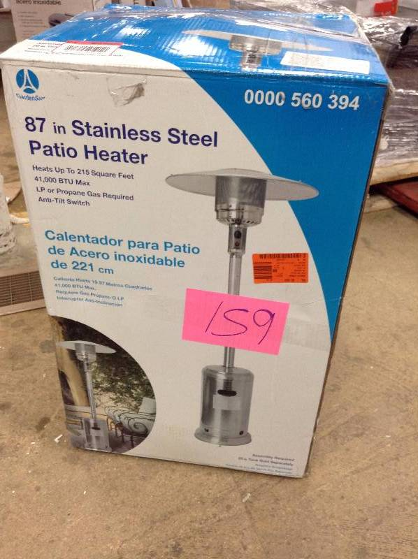 87 in Stainless Steel Patio Heater not used