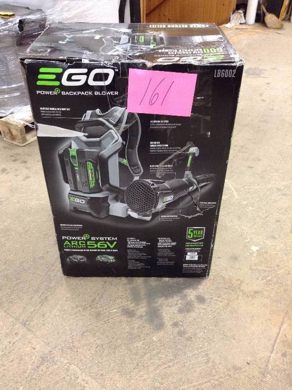 EGO 145 MPH 600 CFM 56-Volt Lithium-ion Cordless Backpack Blower with 2.0Ah Battery and Charger Included in like new condition