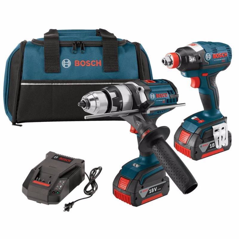 Bosch 18V Cordless Lithium-Ion 1/2 in. Hammer Drill and Socket Ready Impact Driver never used