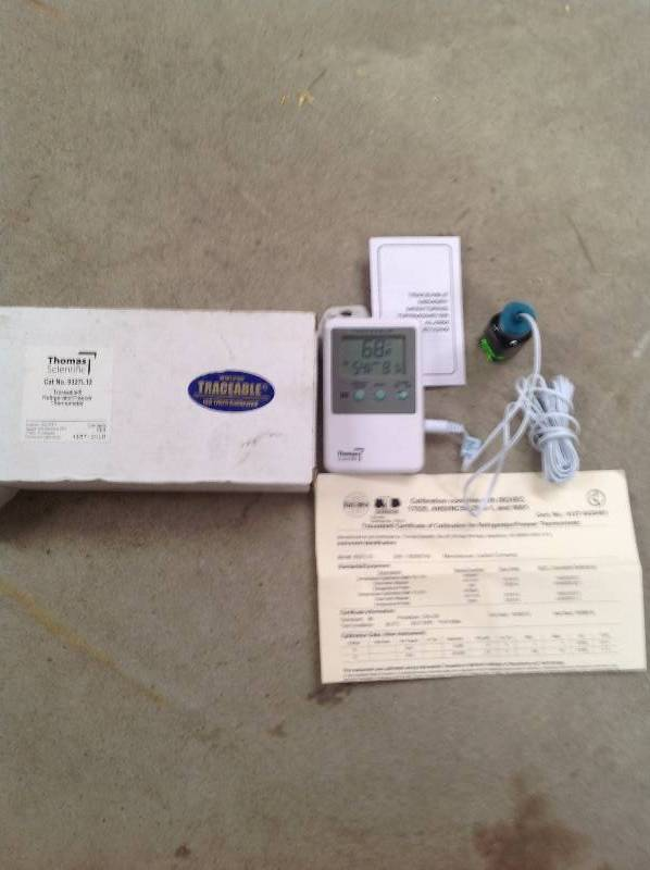 traceable refrigerator freezer thermometer manual