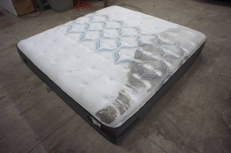 As Is Sealy Posturepedic King Size Ashton Cushion Firm Mattress As Is Mattresses