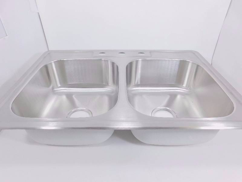 New stainless steel 33 1 8 double bowl 60 40 kitchen sink for High quality kitchen sinks