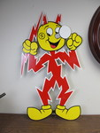Large Enamel REDDY KILOWATT Advertising Sign
