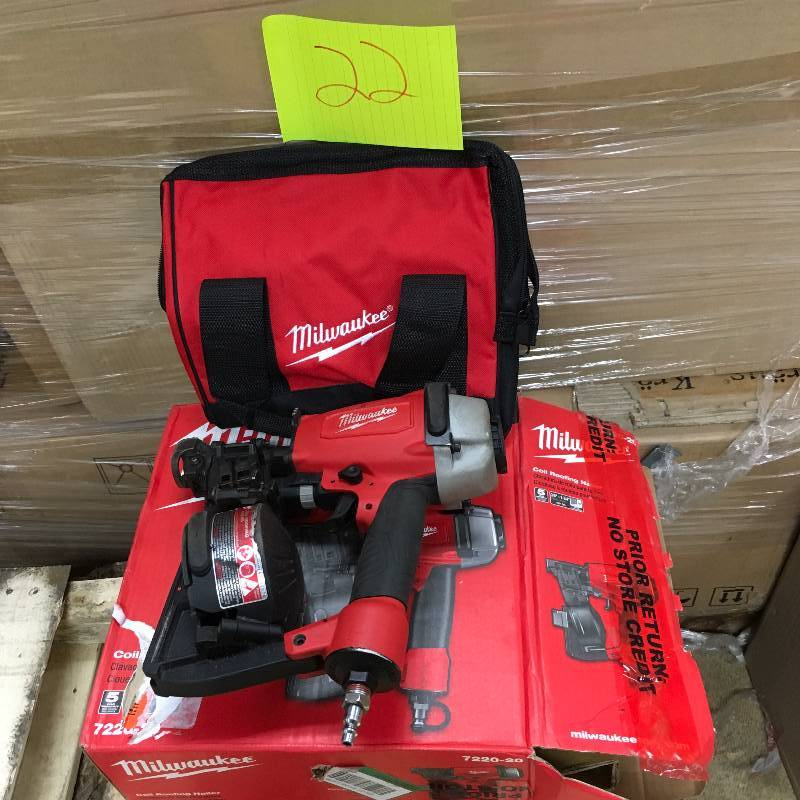 Milwaukee Coil Roofing Nailer Used In Good Working