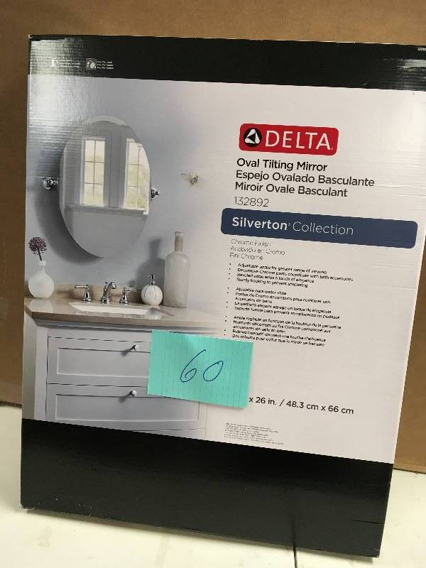 Delta Oval Tilting Mirror Silverton Collection Kx Real
