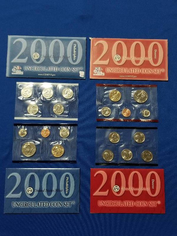 MINT MINT SETS ISSUED BY U.S 2000 UNCIRCULATED Genuine U.S
