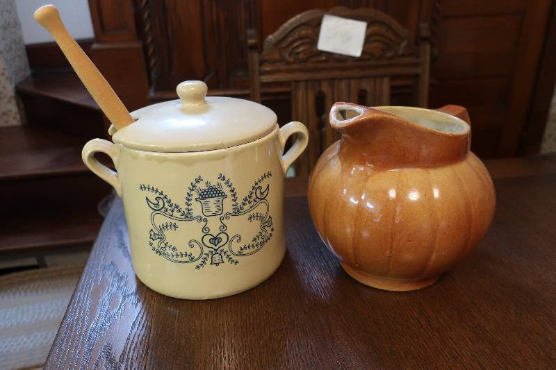 stoneware pitcher and crock