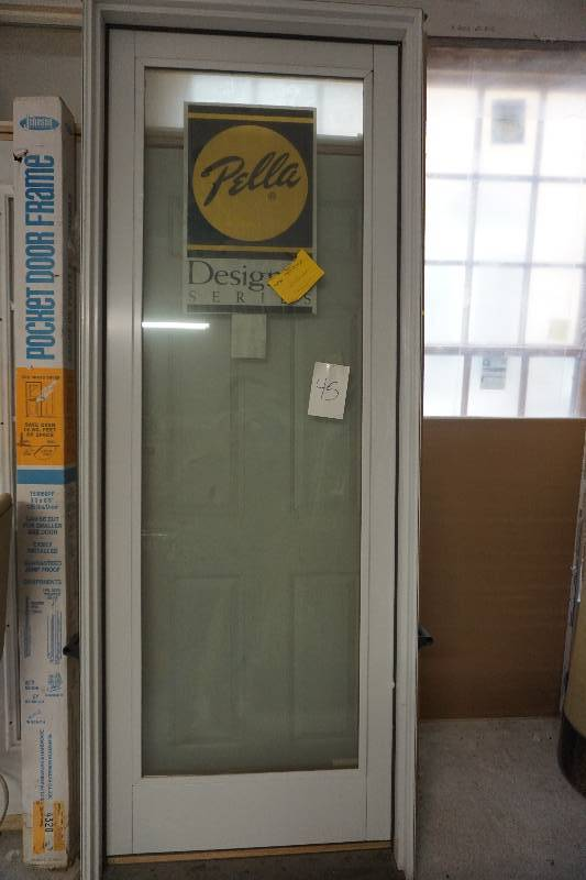 Pella designer series full glass exterior entry door with for Entry door design tool