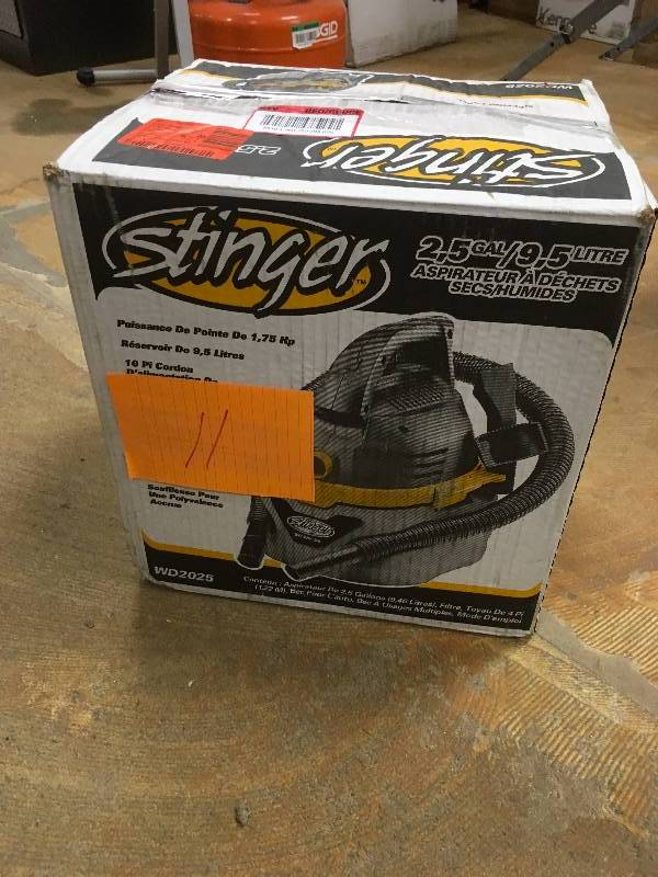 stinger wet dry vac manual