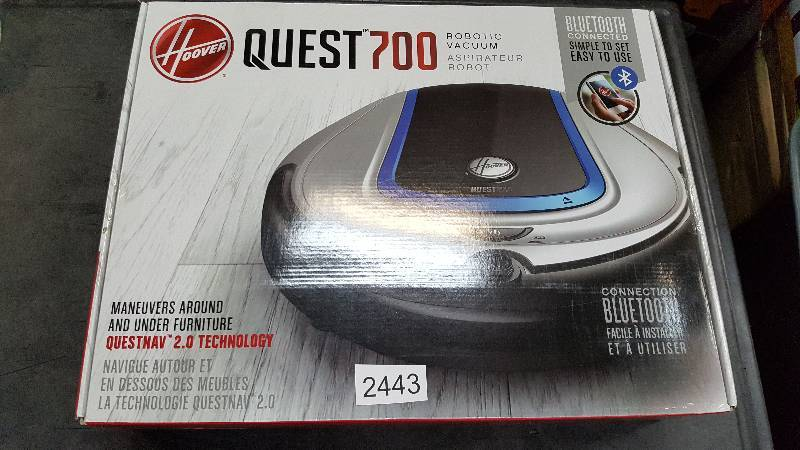 Hoover Quest 700 12v Bluetooth Robot Vacuum Couches