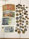 Lot Of Assorted Foreign Paper & Coi...