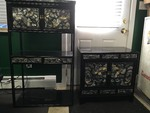 Asian Mother of Pearl Inlaid 2 Piece Cabinet