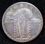 1920 D Standing Liberty Silver Quarter - Key Date, Higher Grade