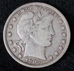 1904 O Barber Silver Half Dollar - Better Date