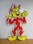 Large REDDY KILOWATT Enamel Advertising Sign