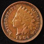 1904 INDIAN HEAD CENT UNC
