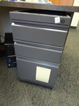 "15"" metal 3 drawer ped. No top...."