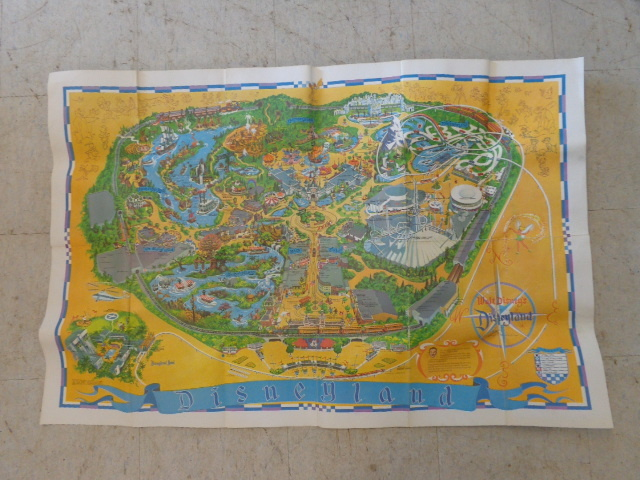 Vintage Disneyland Map | Porcelain Dolls, Vintage Noritake ... on scarcity of food in china, a map form america to china, russian maps n china,