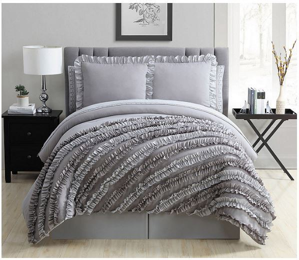 Alcove Circle Ruffle 30 Pc Bedroom Super Set Queen Size