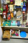 Pet Bowls, Bed, Collars, Training pads, Toys and Misc. Pet items.  Approx. 85 plus items