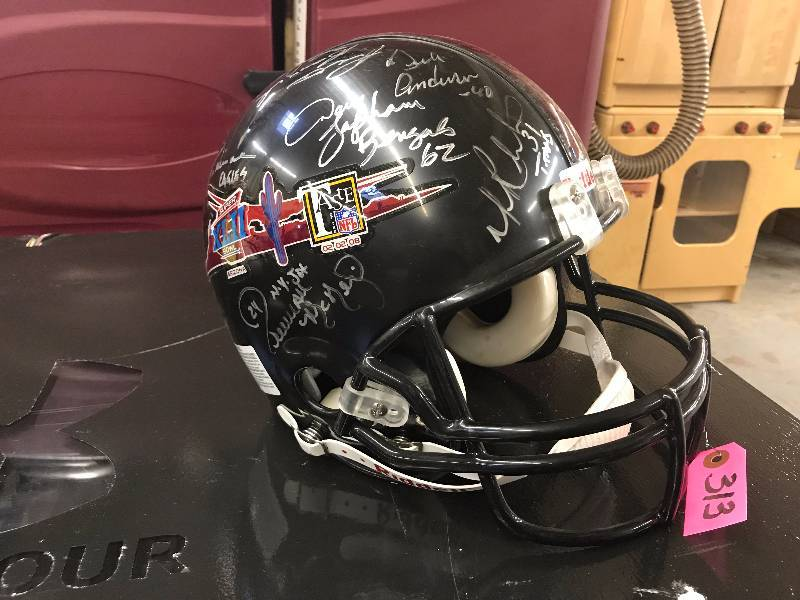AUTOGRAPHED FOOTBALL HELMET