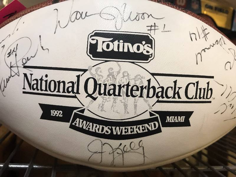 OFFICIAL NFL WILSON AUTOGRAPHED FOOTBALL