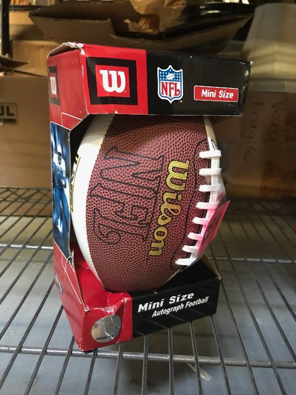 MINI NFL WILSON AUTOGRAPH FOOTBALL