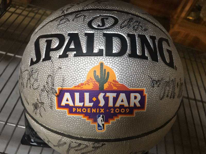 NBA ALL STAR GAME AUTOGRAPHED BASKETBALL