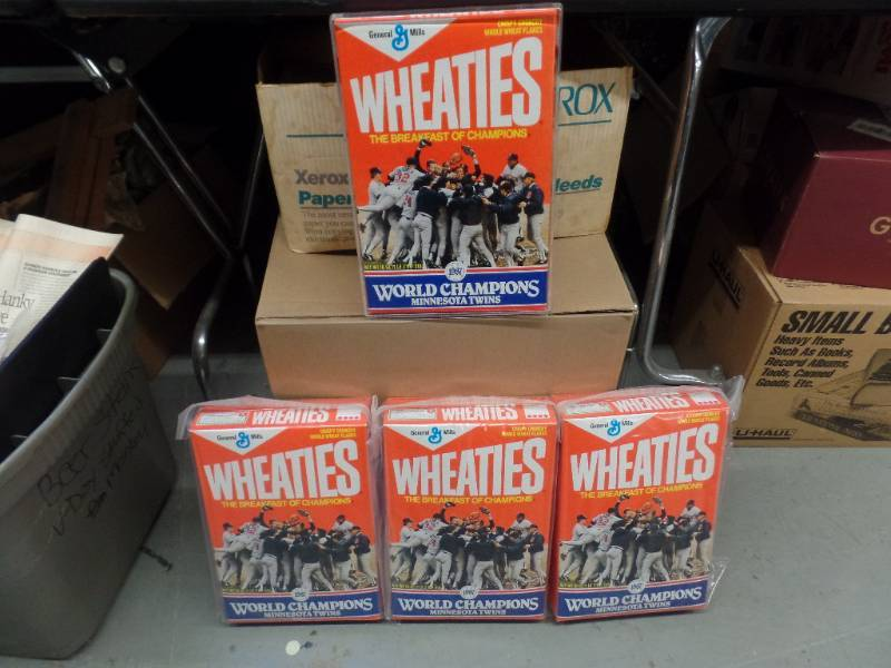 TWINS WORLD SERIES WHEATIES BOXES