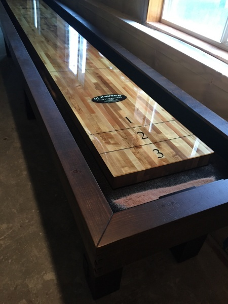 Oldhausen shuffle board model home furniture shuffleboard k bid Model home furniture auction mn