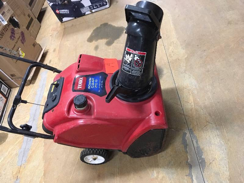 Snow Blower Toro 210r : Toro power clear r quot cc single stage snow blower