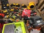 Lot of salvage power tools and more for parts or repair Dewalt, CH, ridgid, Ryobi and more