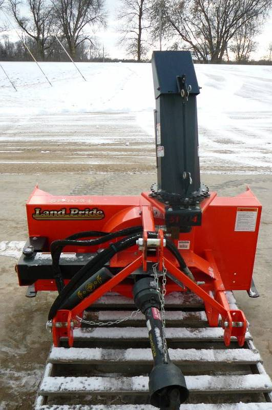 Kubota Three Point Hitch Snowblowers : Land pride quick hitch point snow blower fork lift