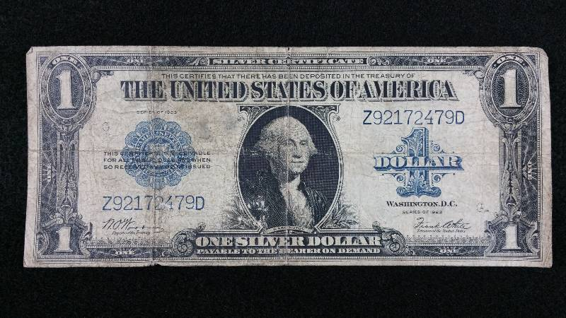 1923 1 Silver Certificate Large Note High End Coin Currency