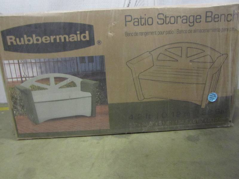 Rubbermaid 32 Gal Resin Patio Storage Bench Mn Home