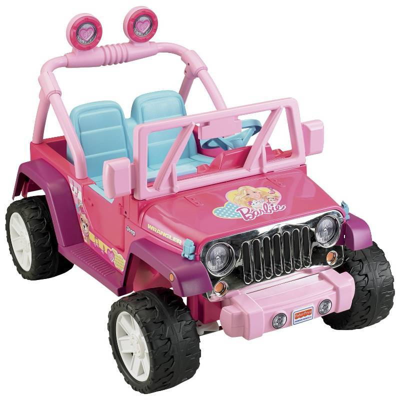 power wheels 12v barbie jammin jeep wrangler ride on last minute gifts kids toys gifts holiday decorations christmas decor k bid - Jeep Christmas Decorations