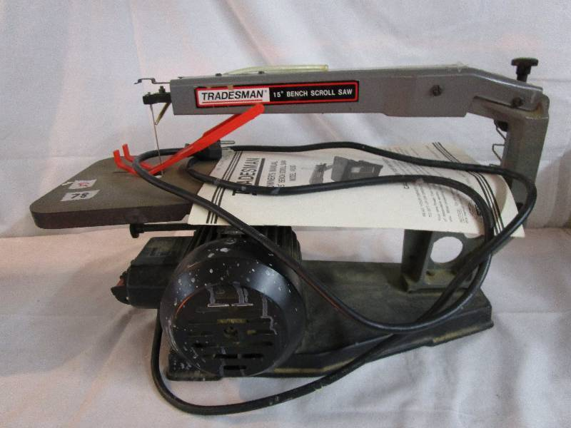 Tradesman 15 Bench Scroll Saw Tools Coins And Collectibles Auction K Bid