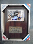 Michael Jordan Plaque with Signed Baseball Rookie Card