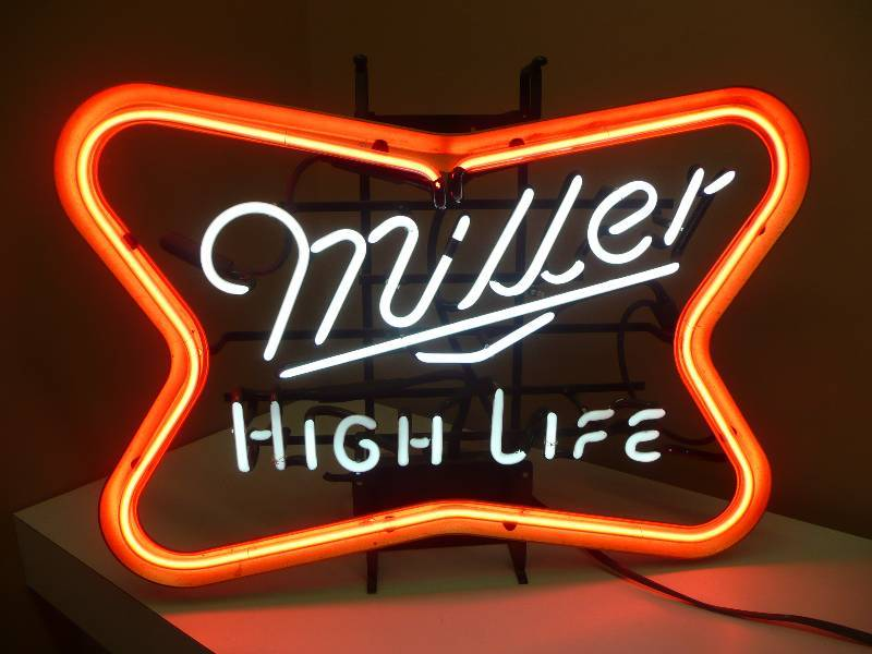 Vintage old school miller high life neon light excellent condition vintage old school miller high life neon light excellent condition approx 26wide 20high see pictures neon lights beer lights bar ware aloadofball Images